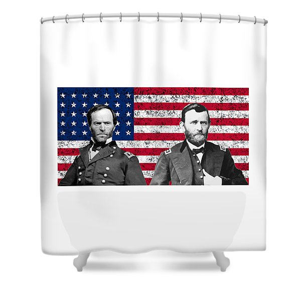 Generals Sherman And Grant  Shower Curtain