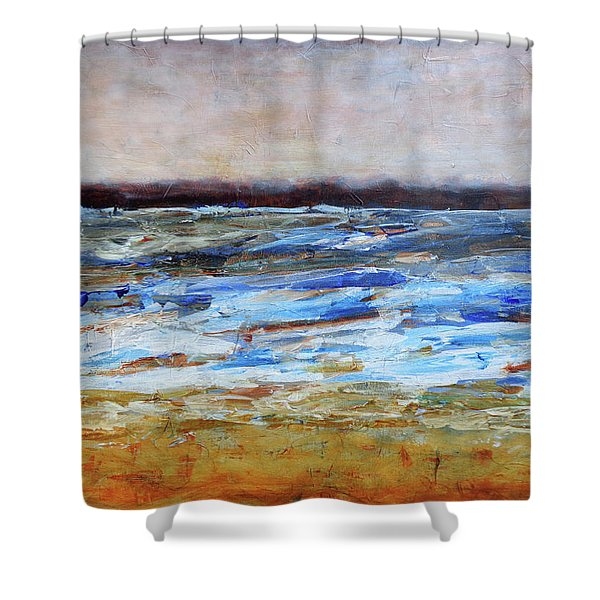 Generations Abstract Landscape Shower Curtain