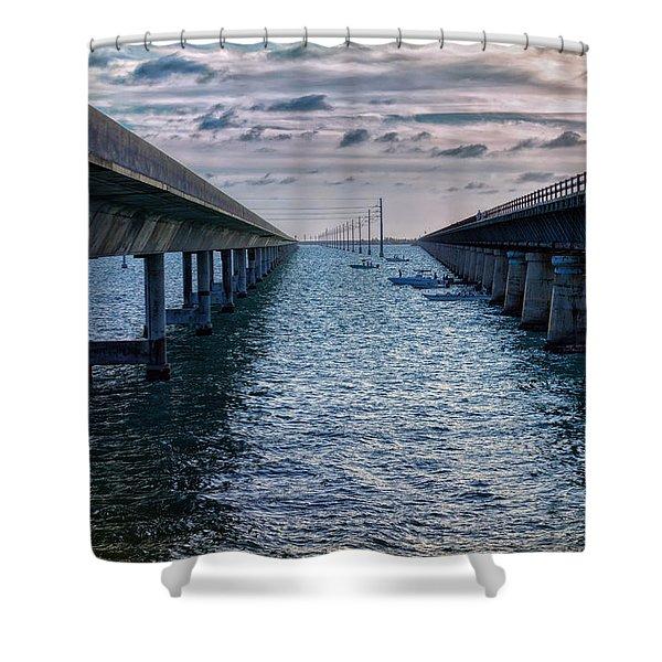 Generations Of Bridges Shower Curtain