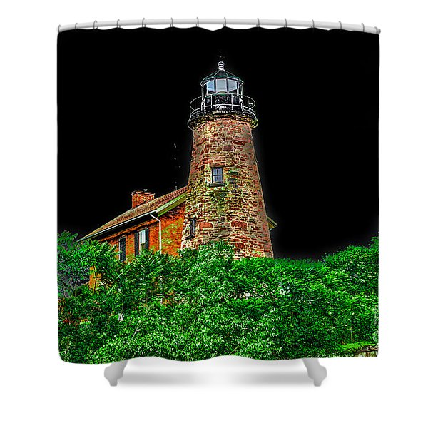 Genesee Lighthouse Shower Curtain