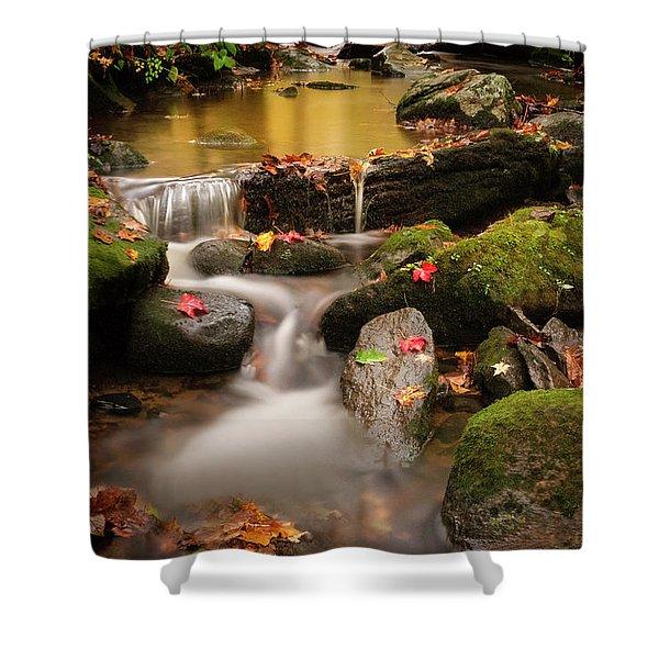 Gentle Cascades Of Autumn  Shower Curtain