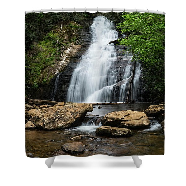 Gentle Waterfall North Georgia Mountains Shower Curtain