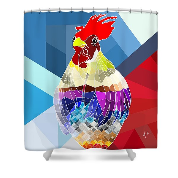 Shower Curtain featuring the digital art Geo Doodle Doo by Mark Taylor