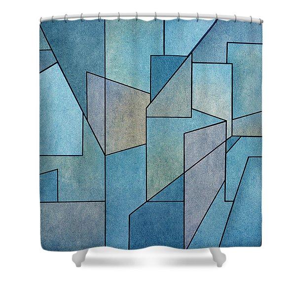 Geometric Abstraction IIi Shower Curtain