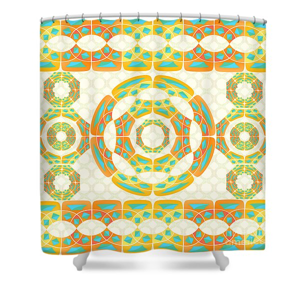 Geometric Composition Shower Curtain