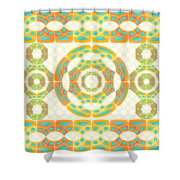 Geometric Composition Shower Curtain