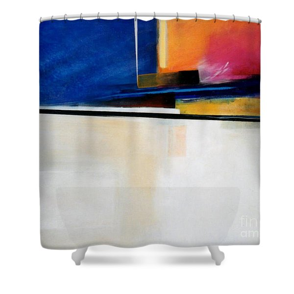 Geometrics 4 Lights Out Shower Curtain by Marlene Burns