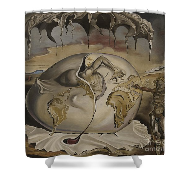 Dali's Geopolitical Child Shower Curtain