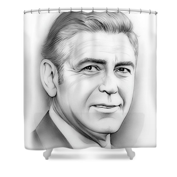 George Clooney Shower Curtain