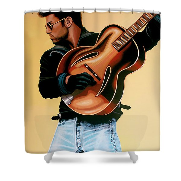 George Michael Painting Shower Curtain