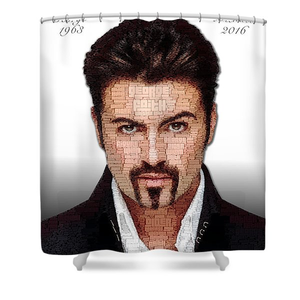 George Michael Tribute Shower Curtain