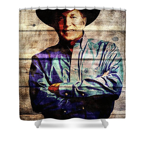 George Strait Shower Curtain