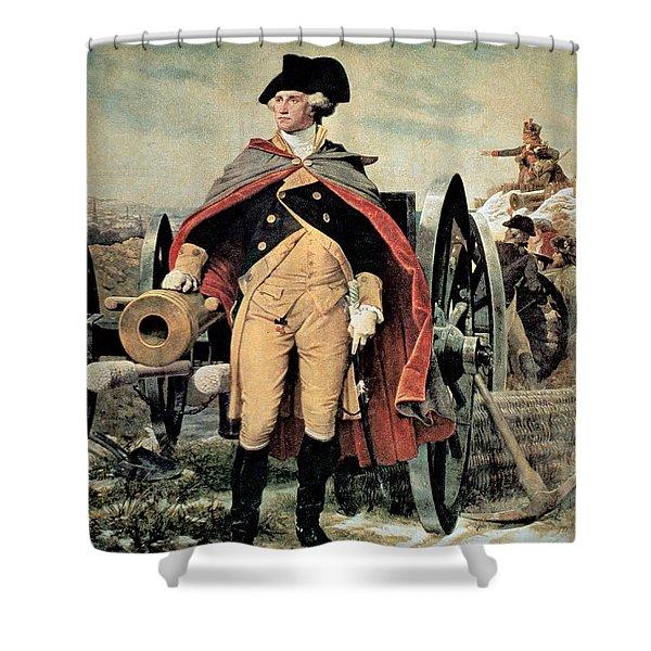 George Washington At Dorchester Heights Shower Curtain