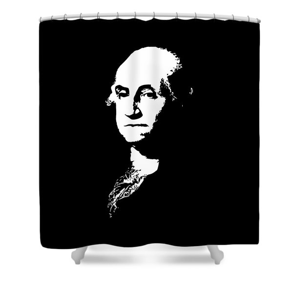 George Washington Black And White Shower Curtain