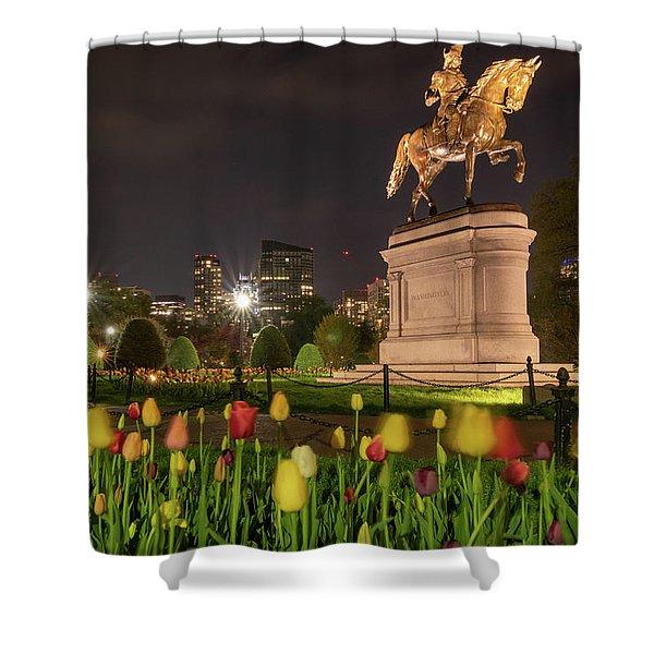George Washington Standing Guard Shower Curtain