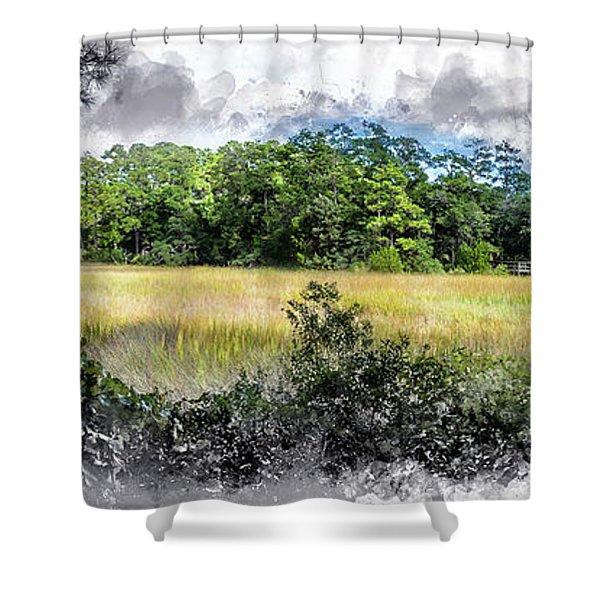 George Washington Trail Shower Curtain
