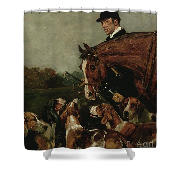 George Wateridge, Huntsman To The New Forest Buckhounds Shower Curtain