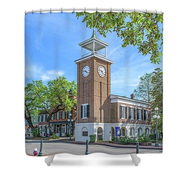 Georgetown Clock Tower Shower Curtain