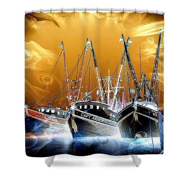Georgetown Fantasy Shrimpers Shower Curtain