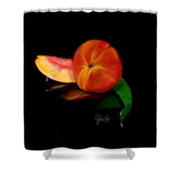 Georgia Peach Shower Curtain