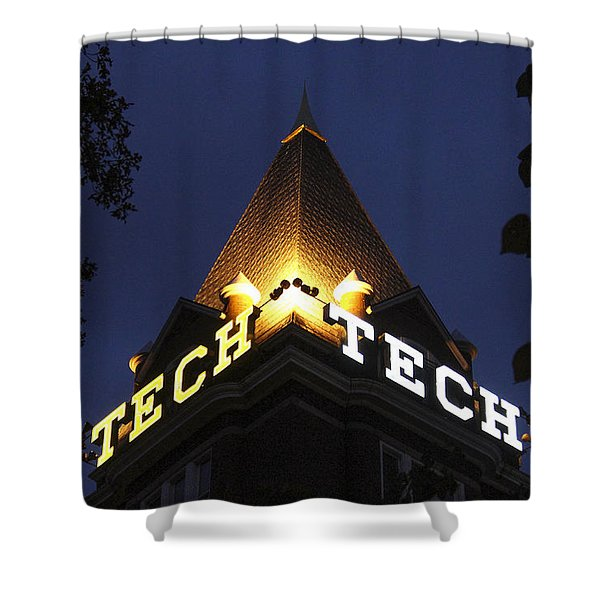 Georgia Tech Georgia Institute Of Technology Georgia Art Shower Curtain