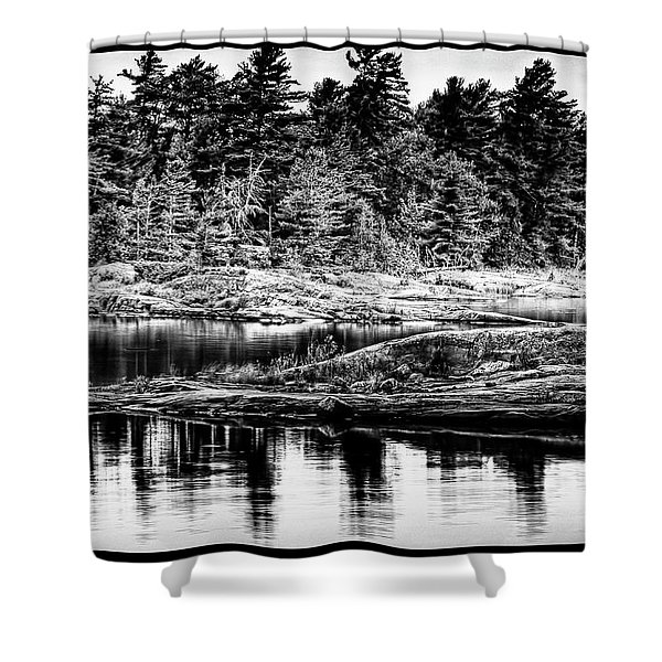 Georgian Bay Shoreline Shower Curtain
