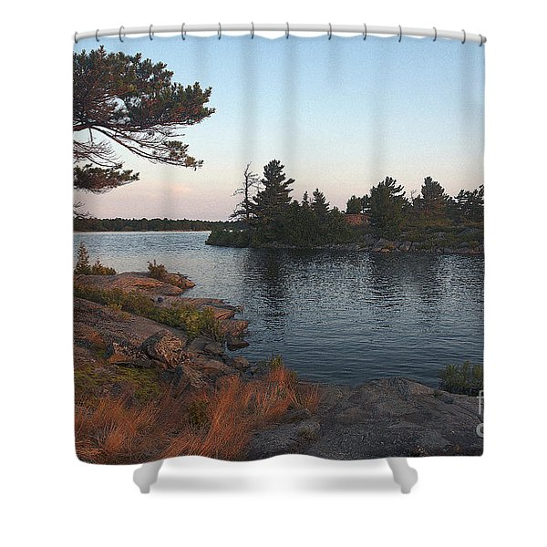Georgian Bay Sunrise-4299 Shower Curtain