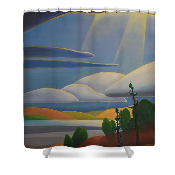 Georgian Shores - Left Panel Shower Curtain