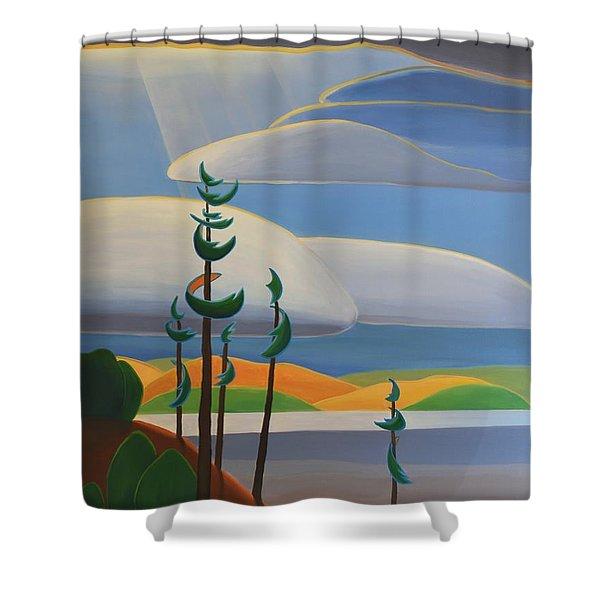 Georgian Shores - Right Panel Shower Curtain