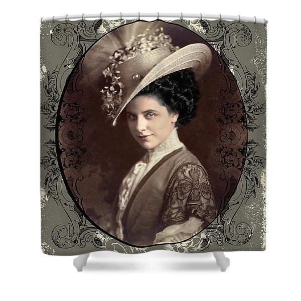 Shower Curtain featuring the digital art Geraldine Farrar by Robert G Kernodle
