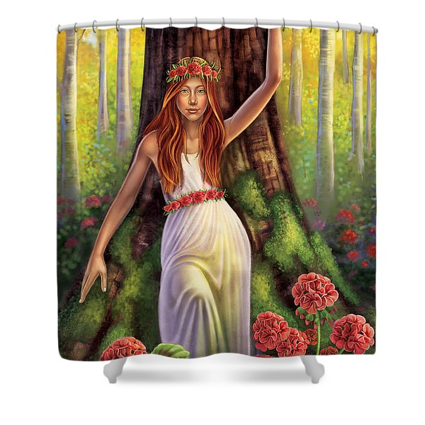 Geranium - Resilience Shower Curtain