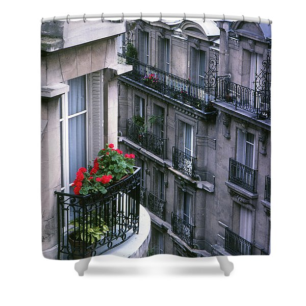 Geraniums - Paris Shower Curtain