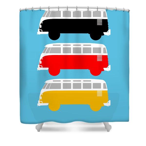 German Icon - Vw T1 Samba Shower Curtain
