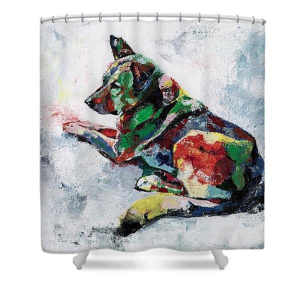German Shepherd 2 Shower Curtain