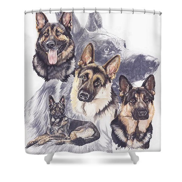 German Shepherd Medley Shower Curtain