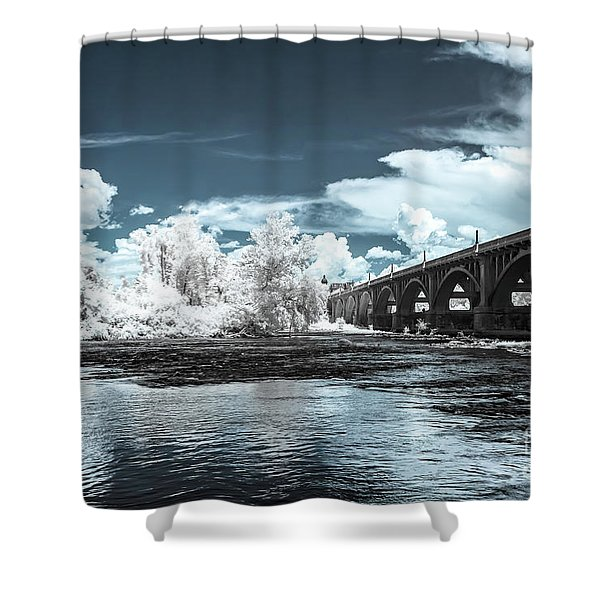 Gervais St. Bridge-infrared Shower Curtain