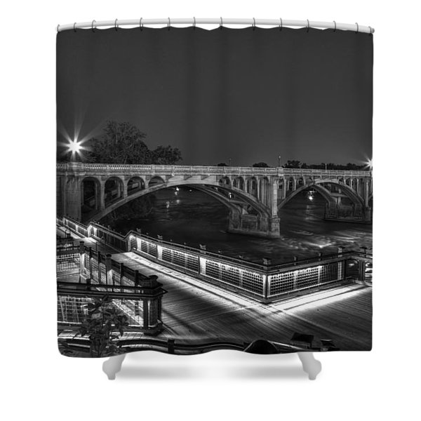 Gervais Street B-w Shower Curtain