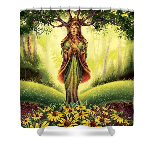 Get Grounded - Black Eyed Susan Shower Curtain