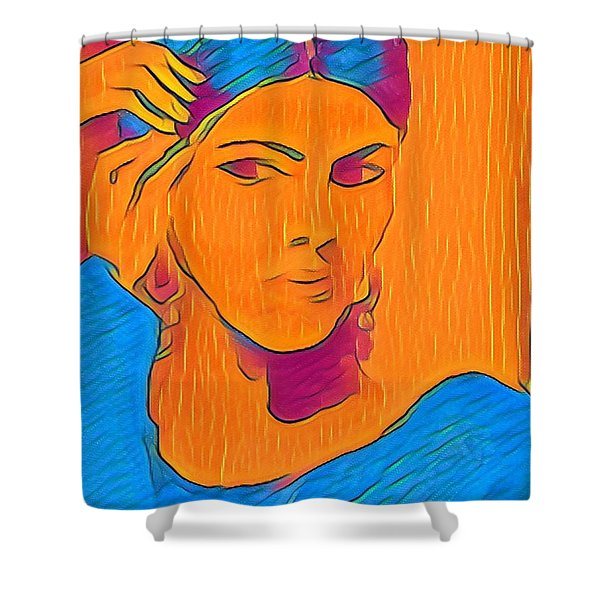 Getting Ready Electric Shower Curtain