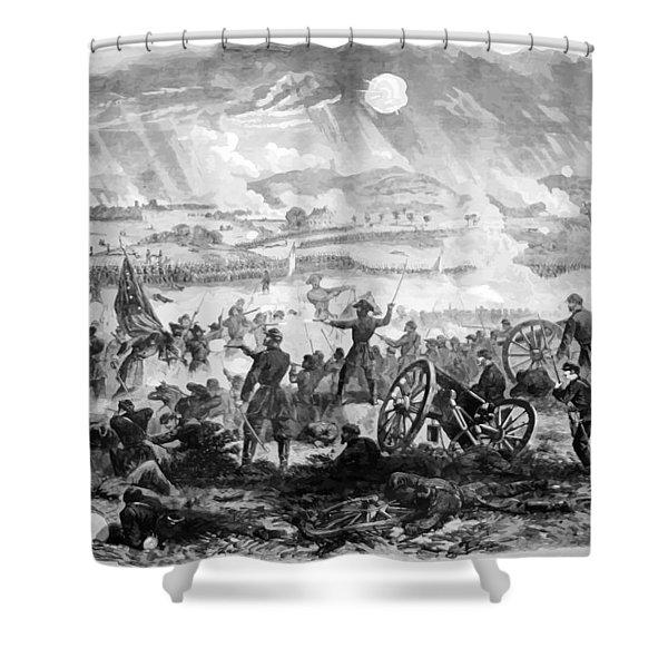 Gettysburg Battle Scene Shower Curtain
