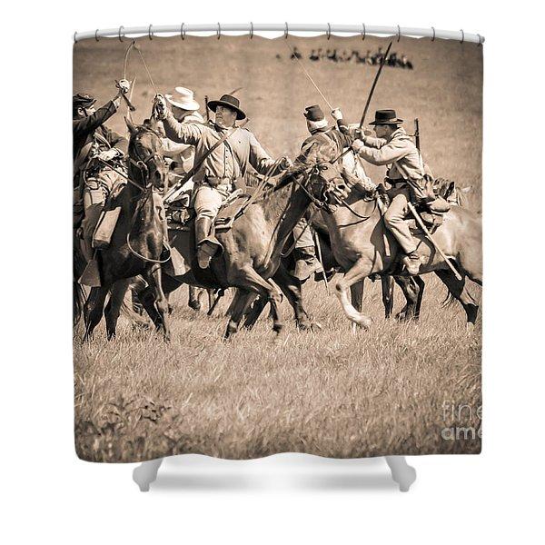 Gettysburg Cavalry Battle 7948s  Shower Curtain