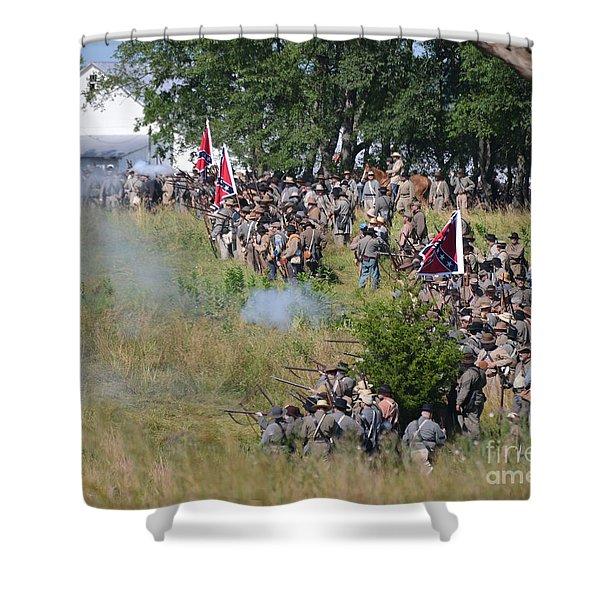 Gettysburg Confederate Infantry 8825c Shower Curtain