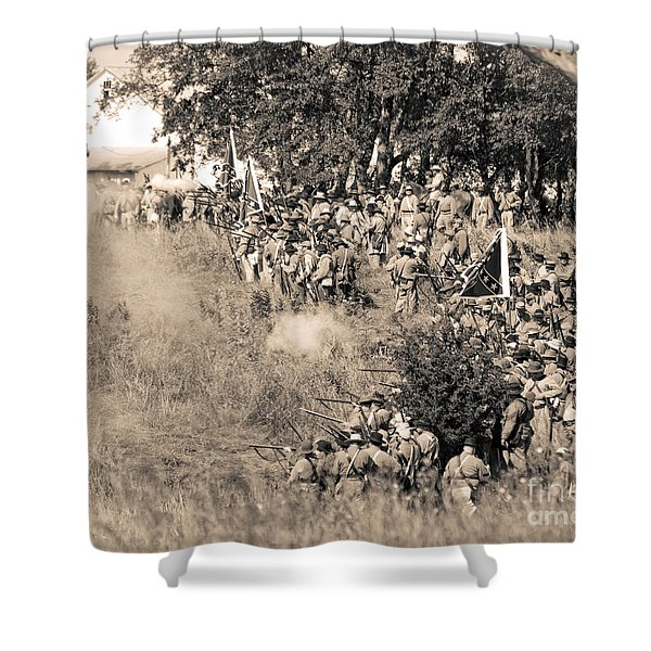 Gettysburg Confederate Infantry 8825s Shower Curtain