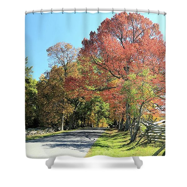 Gettysburg  In The  Fall Shower Curtain