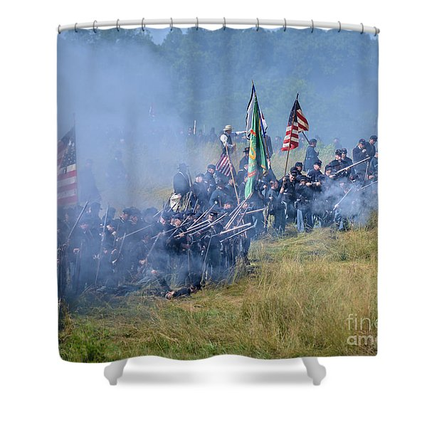 Gettysburg Union Infantry 8947c Shower Curtain