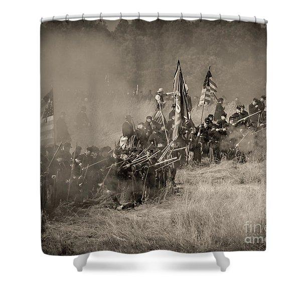 Gettysburg Union Infantry 8947s Shower Curtain