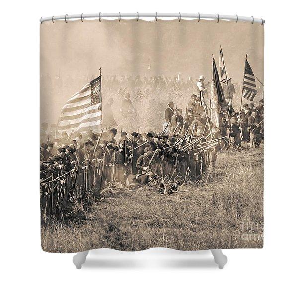 Gettysburg Union Infantry 8948s Shower Curtain
