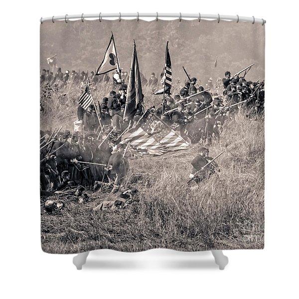 Gettysburg Union Infantry 8963s Shower Curtain