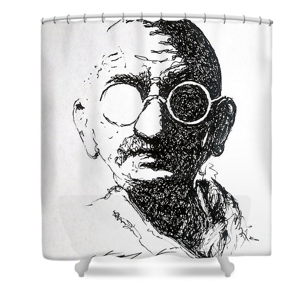Ghandi Shower Curtain