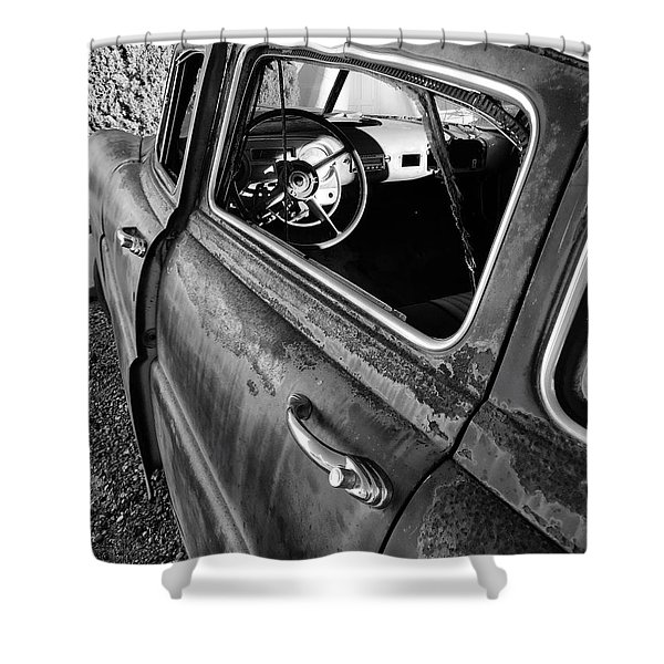 Ghost Driver Shower Curtain